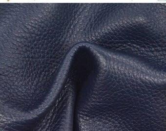 "NZ Deer Sale Phthalo Blue Leather New Zealand Deer Hide 8"" x 10"" Project Piece 3 oz TA-56753 (Sec. 3,Shelf 3,D)"