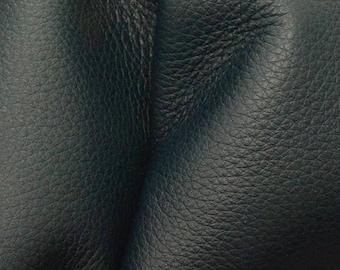 "NZ Deer Sale Dark Ocean Teal Leather New Zealand Deer Hide 8""x10"" Pre-cut 2 1/2-3 ounces -14 DE-66120 (Sec. 3,Shelf 2,D)"