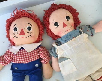 Vintage RAGGEDY Ann & Andy ~ By Knickerbocker Toy Co