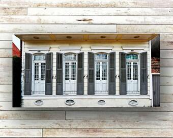 GREY SHUTTERS - New Orleans art - French Quarter Doors - Architecture - Door Photography - NOLA - Shutters - Original Art