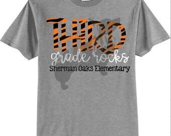 Third Grade Rocks Teacher/Grade Level T-Shirt