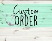 Reserved Custom Listing for Sandecan16