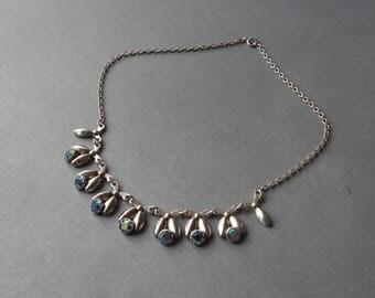 Danish mid century sterling silver necklace by Hermann Siersbol.