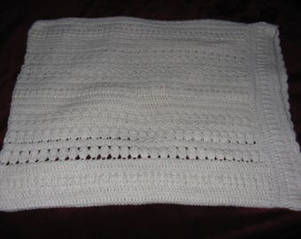 Large hand crocheted pillow case