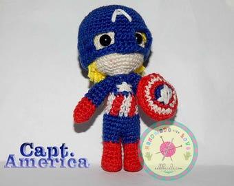 Amigurumi Captain America Doll