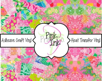 Beautiful Patterned Craft Vinyl and Heat Transfer Vinyl in pattern 73