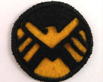 Shield Logo Badge Pin Button Patch