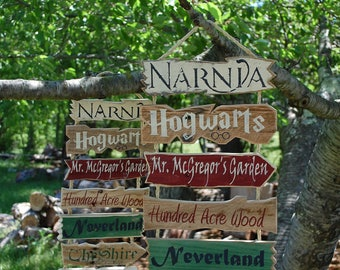 Story Book Signs. (Also available in mini)