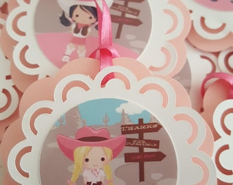 favor tags cowgirls, favor tags, cowgirls party, cowgirls theme, cowgirls party, cowgirls, pink cowgirls, cowgirl decor