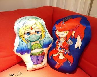 """Large 17""""~ Gerudo Link Sidon BOTW Pillow cushion"""