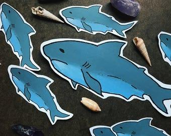 King of the Ocean Matte Sticker // Great White Shark