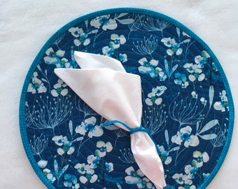 Shades of Blue Round Placemats