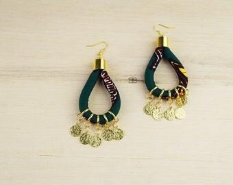African Fabric earrings, bijoux wax, bijoux africains. african jewelry, african earrings, bijoux ethniques, boucles d'oreilles ethniques