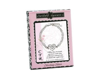 Sterling Silver LDS CTR Bracelet with Heart