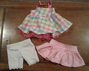Build-A-Bear Clothes:  Sun Dress, Shirt & Bloomers - Excellent COndition