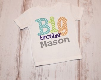 Personalized Big Brother Shirt or Onesie