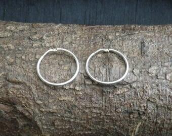 Vintage Sterling Silver Hoop Earrings