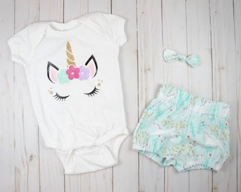 Unicorn Girl Clothes - Baby Girl Outfits Summer - Baby Girl Clothes - Coming Home Outfit - Toddler Girl Outfits - Toddler Girl Clothes