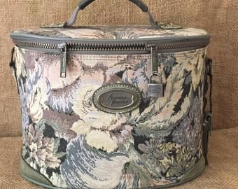 Vintage Tapestry American Tourister Train Case