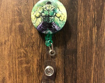 Hulk retractable badge holder