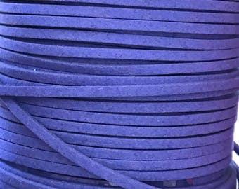 Royal Blue Faux Suede Cord - 5m