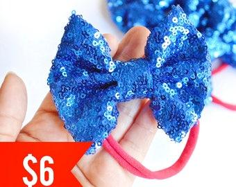 Blue Sparkle Bow