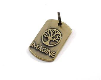Beads, Imagine Pendant, Antique Brass Pendant, Tree Pendant