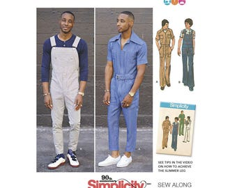 Simplicity 8615 Men's Vintage Jumpsuit and Overalls
