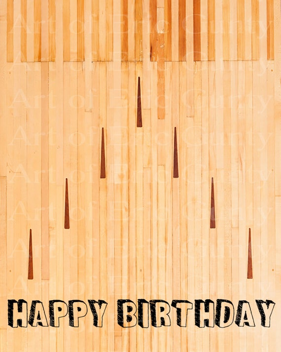 Bowling Lane Birthday - Edible Cake and Cupcake Topper For Birthday's and Parties! - D22670