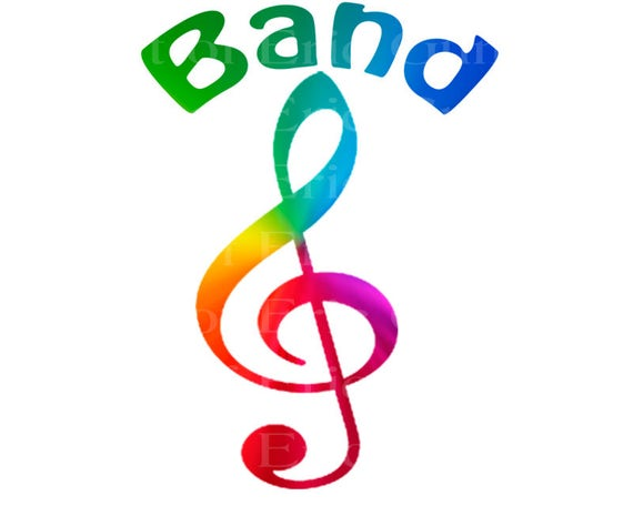 Band Music Notes Rainbow Birthday - Edible Cake and Cupcake Topper For Birthday's and Parties! - D22706