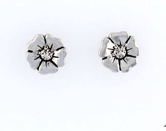 Sterling Silver Flower Choice - Charm, Post, Dangle Earrings, Necklace