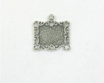 Sterling Silver Photo Frame Charm