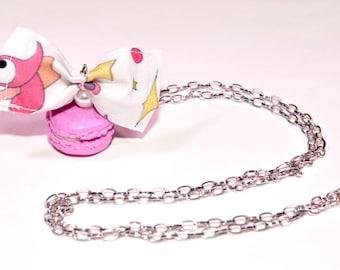 Pink macaroon pendant