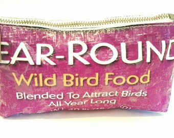 Cosmetic Bag, Bird Bag, Recycled Handbags, Recycled Bags, Pouches and Handbags, Bird Purse, Handcrafted Bags, Bird Cosmetic Bags