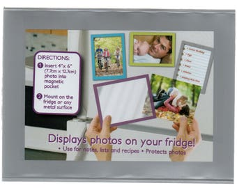 Two Magnetic Photo Frame Holders 6 x 4 inch