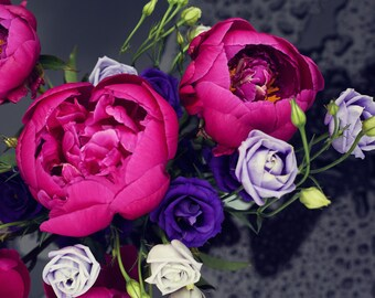 Peonies and Roses Floral Photographic Print
