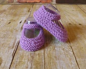 Lavender Crochet Baby Booties