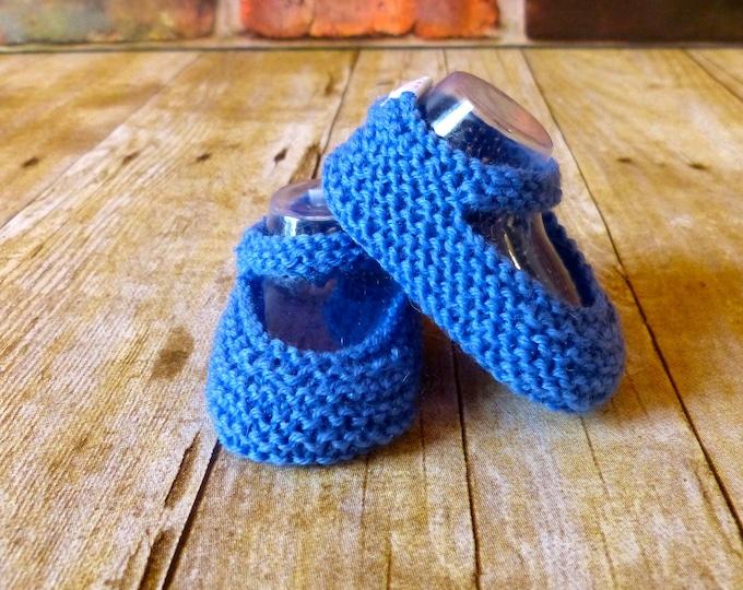 Blue Crochet Baby Booties