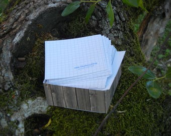 bloc of upcycled paper for flying notes