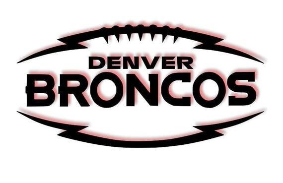 Denver Broncos decal, football decal, Broncos decals, Denver decals, sports decals, cup decals Football, Denver football decals, Denver