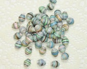 Paper Beads, Loose Handmade Jewelry Supplies Round Soft Multi Colored Puffs