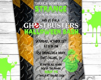 Ghostbusters Party Invitation | Halloween