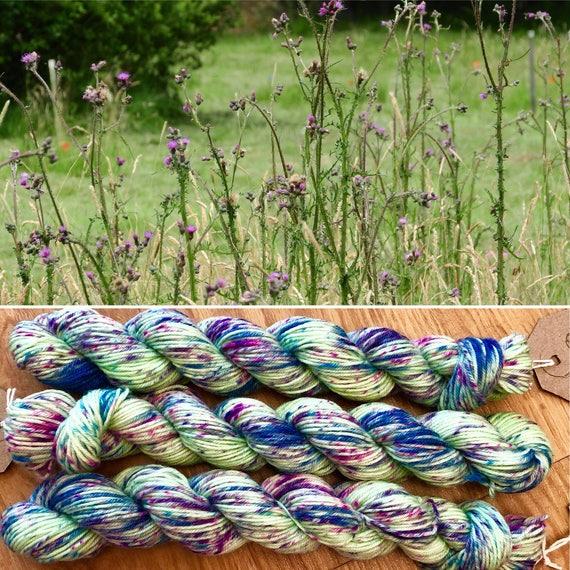 Thistles 20g Miniskein, speckled indie dyed merino nylon sock yarn