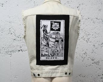 Death Card Tarot Back Patch - Big Backpatch