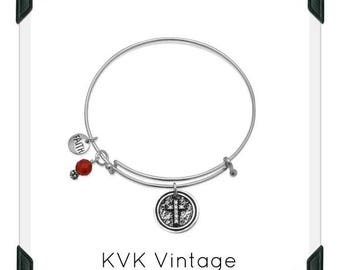 Expandable Multi-charm Faith Bangle Bracelet