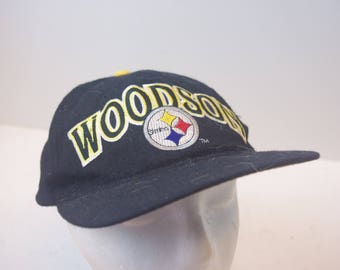 90s Woodson Pittsburgh Steelers hat cap Starter snapback