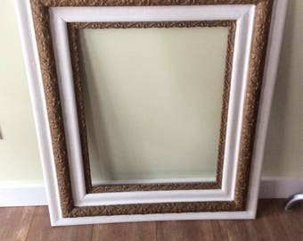 Large Antique  Rustic Farm House Ornate Picture Frame