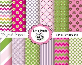 80% OFF SALE Dora the Explorer Digital Papers 12 jpg files 12 x 12  - Instant Download - D185
