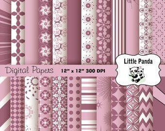 80% OFF SALE Dazzling Digital Scrapbooking Papers 24 jpg files 12 x 12 - Instant Download - D157