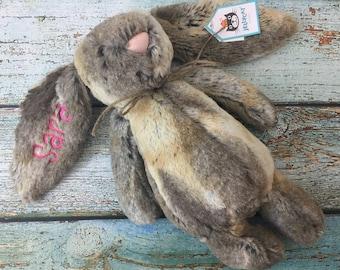MEDIUM Personalized Jellycat Bunny Rabbit, Bunny Rabbit, Stuffed Animal Bunny, Personalized Gift, Monogrammed Bunny, Personalized Bunny